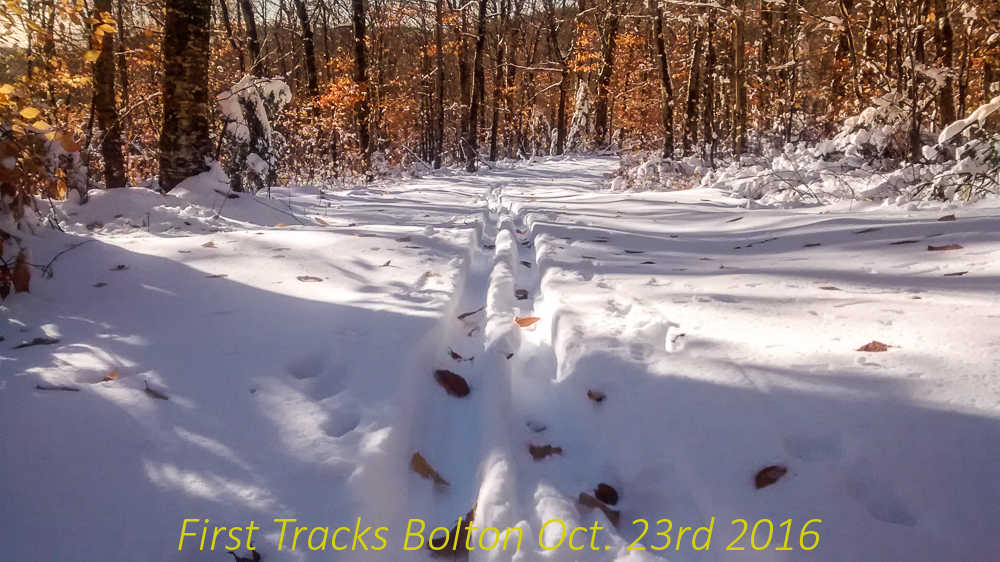 First Tracks Bolton Oct. 23rd 2016